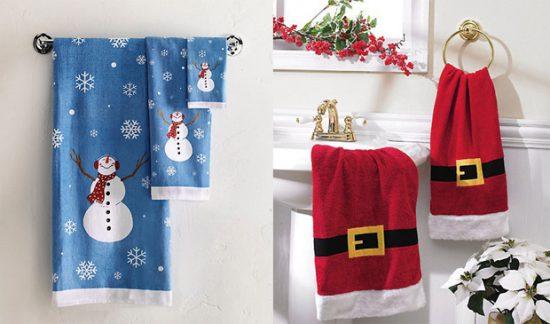 decoracion de Navidad con toallas